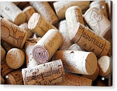 French Wine Corks Acrylic Print by Georgia Fowler