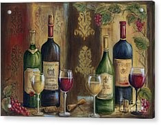 French Wine Tasting Acrylic Print by Marilyn Dunlap
