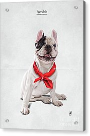 Acrylic Print featuring the digital art Frenchie by Rob Snow