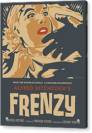 Frenzy - Thriller Noir Acrylic Print by Bill ONeil