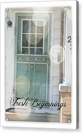 Fresh Beginnings Acrylic Print