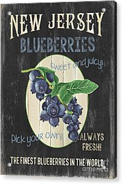 Acrylic Print featuring the painting Fresh Berries 1 by Debbie DeWitt