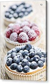 Fresh Berry Tarts Acrylic Print by Elena Elisseeva