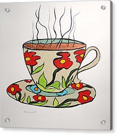 Acrylic Print featuring the painting Fresh Cup by John Williams