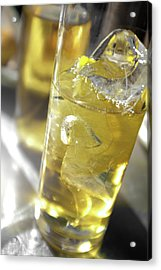 Acrylic Print featuring the photograph Fresh Drink With Lemon by Carlos Caetano