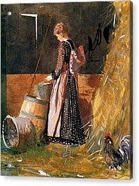 Fresh Eggs Acrylic Print by Winslow Homer