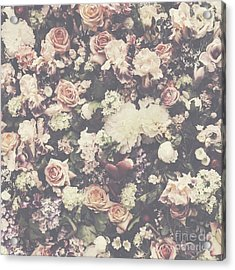 Fresh Flower Pattern Background Acrylic Print