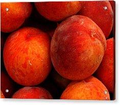Fresh Fuzzy Peaches Acrylic Print by Ian  MacDonald