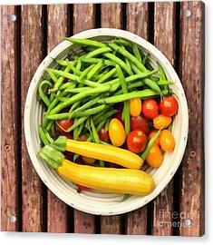 Fresh Garden Veggies Acrylic Print