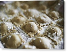 Fresh Homemade Italian Pasta  Acrylic Print