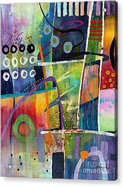 Acrylic Print featuring the painting Fresh Jazz by Hailey E Herrera