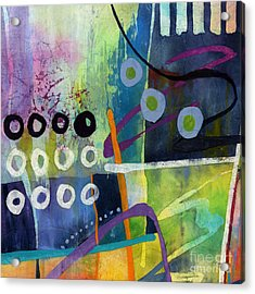 Acrylic Print featuring the painting Fresh Jazz In A Square 2 by Hailey E Herrera