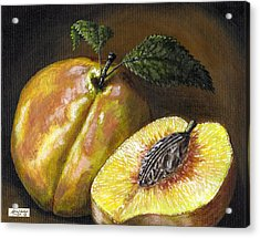 Fresh Peaches Acrylic Print by Adam Zebediah Joseph