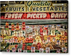 Fresh Picked Daily Acrylic Print by Spencer McDonald