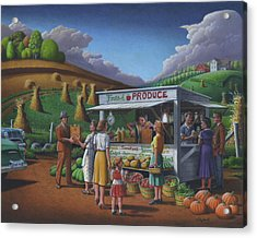 Fresh Produce - Roadside Produce Stand - Vegetables - Fruit Acrylic Print by Walt Curlee