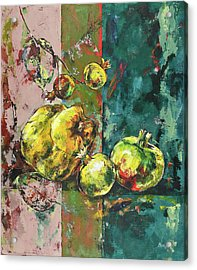 Fresh Quince And Pomegranate Acrylic Print