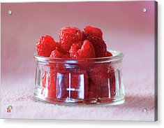 Acrylic Print featuring the photograph Fresh Raspberries by Geoffrey Lewis