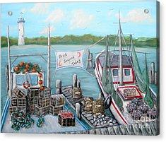 Fresh Seafood  Acrylic Print by JoAnn Wheeler