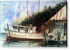 Fresh Shrimp Alabama Acrylic Print by Don F  Bradford