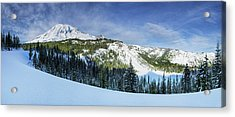 Acrylic Print featuring the photograph Fresh Snow At Mount Rainier by Dan Mihai