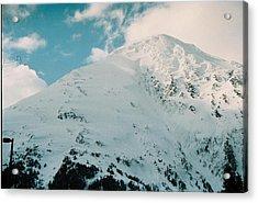 Acrylic Print featuring the photograph Fresh Snow Peak by Judyann Matthews