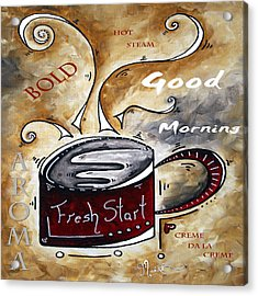 Fresh Start Original Painting Madart Acrylic Print by Megan Duncanson