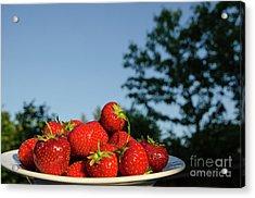 Acrylic Print featuring the photograph Fresh Strawberriesl by Kennerth and Birgitta Kullman