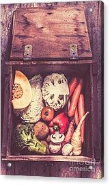 Fresh Vegetables In Wooden Box Acrylic Print