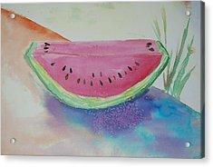 Fresh Watermelon Acrylic Print by Aldonia Bailey