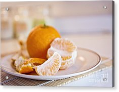 Acrylic Print featuring the photograph Freshly Peeled Citrus by Cindy Garber Iverson