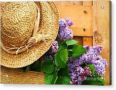 Freshly Picked Lilacs Acrylic Print by Sandra Cunningham