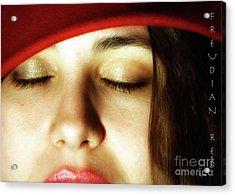 Freudian Red  Acrylic Print by Steven Digman