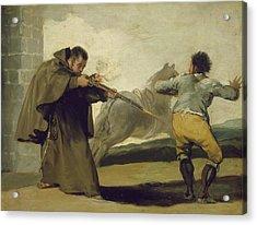 Friar Pedro Shoots El Maragato As His Horse Runs Off Acrylic Print by Goya