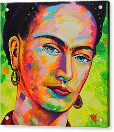 Frida Acrylic Print by Angel Ortiz