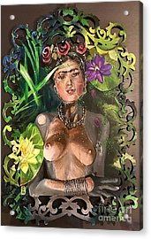 Acrylic Print featuring the painting Frida De Ophelia by Baroquen Krafts