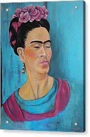 Frida Acrylic Print by Jenny Pickens