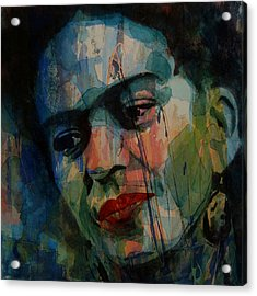 Frida Kahlo Colourful Icon  Acrylic Print by Paul Lovering