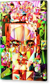 Acrylic Print featuring the photograph Frida Kahlo In Abstract Cubism 20170326 V4 by Wingsdomain Art and Photography