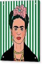 Frida Kahlo Acrylic Print by Nicole Wilson