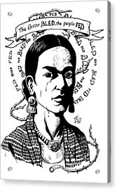 Frida Acrylic Print by Marcus Anderson
