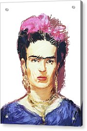 Frida Acrylic Print by Russell Pierce