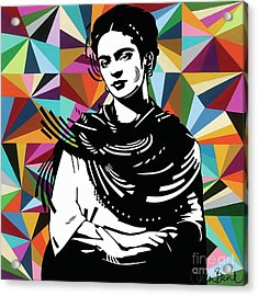 Acrylic Print featuring the painting Frida Stay True by Carla Bank