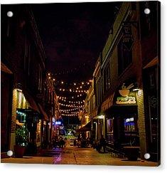 Friday Night Alley Acrylic Print