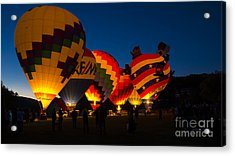 Friday Night At The Quechee Balloon Festival Acrylic Print