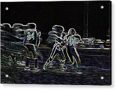 Acrylic Print featuring the pyrography Friday Night Under The Lights by Chris Thomas