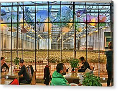 Fridheimer Greenhouse And Restaurant Acrylic Print by Allen Beatty