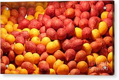 Acrylic Print featuring the photograph Fried Sweet Potato Balls by Yali Shi