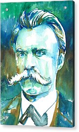 Friedrich Nietzsche Watercolor Portrait.1 Acrylic Print