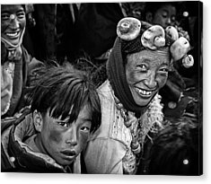 Friendly Villagers Acrylic Print by Bj Yang