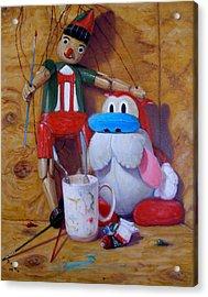 Friends 2  -  Pinocchio And Stimpy   Acrylic Print